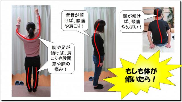 人の体も歪みが生じれば、頭痛や肩こり、腰痛などの身体の不調をきたします。